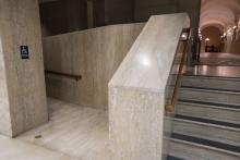 Entrance to Narrow Accessibility Ramp to the West Wing